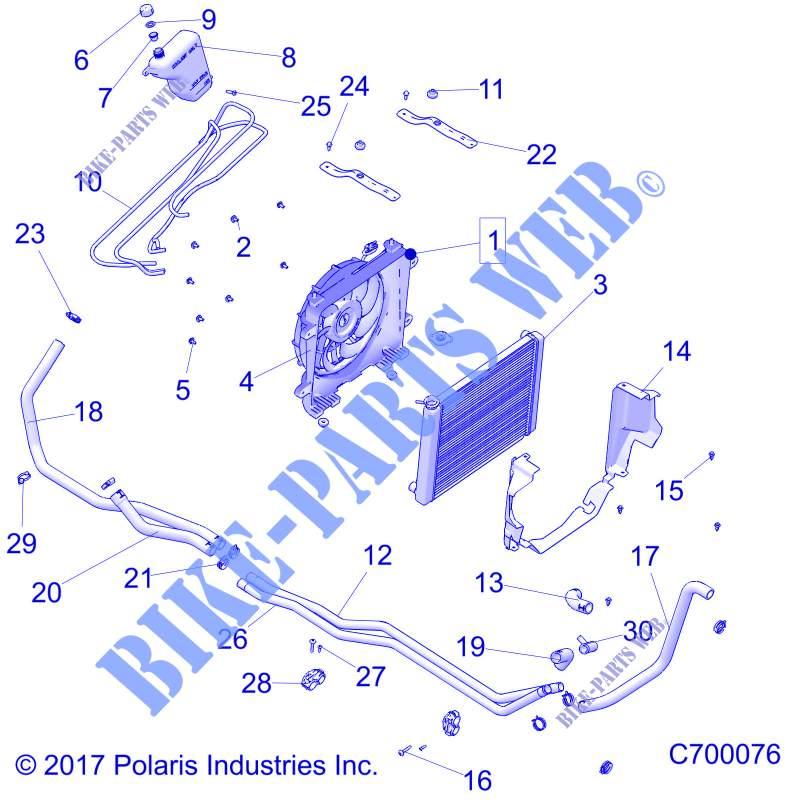 engine, cooling system for polaris ranger xp 1000 eps northstar hvac  edition 2018